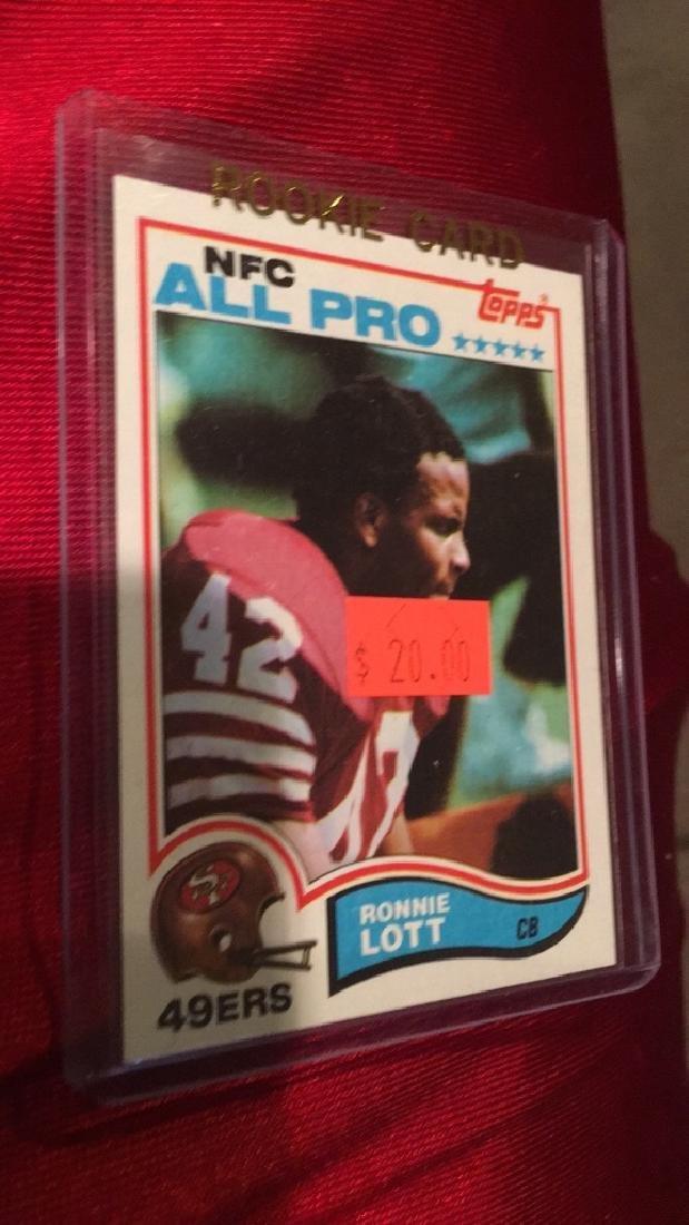 Ronnie Lott 1982 Topps RC