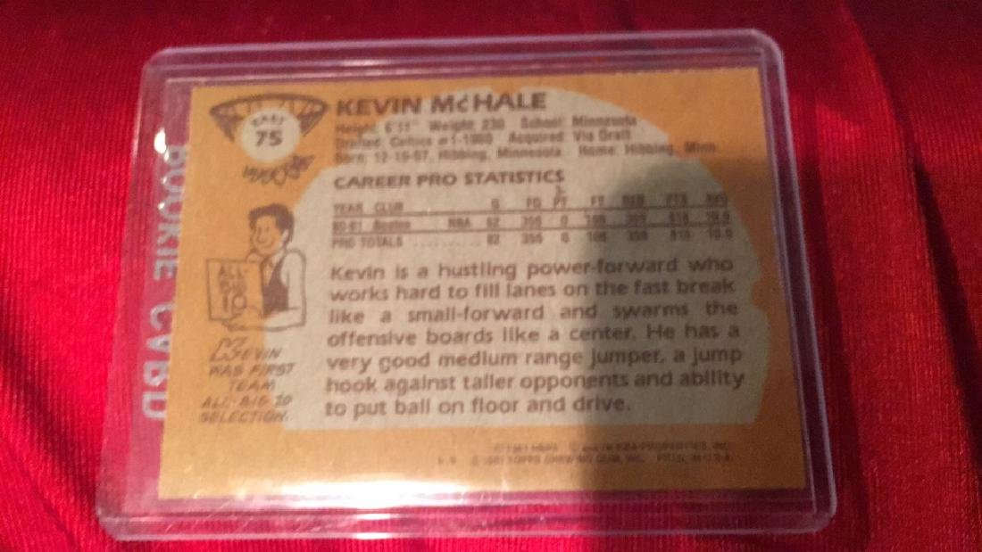 Kevin Mchale 1981-82 Topps RC - 3