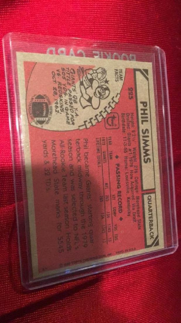 Phil Simms 1980 Topps RC - 2