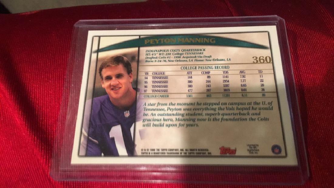 Peyton Manning 1998 Topps RC - 2