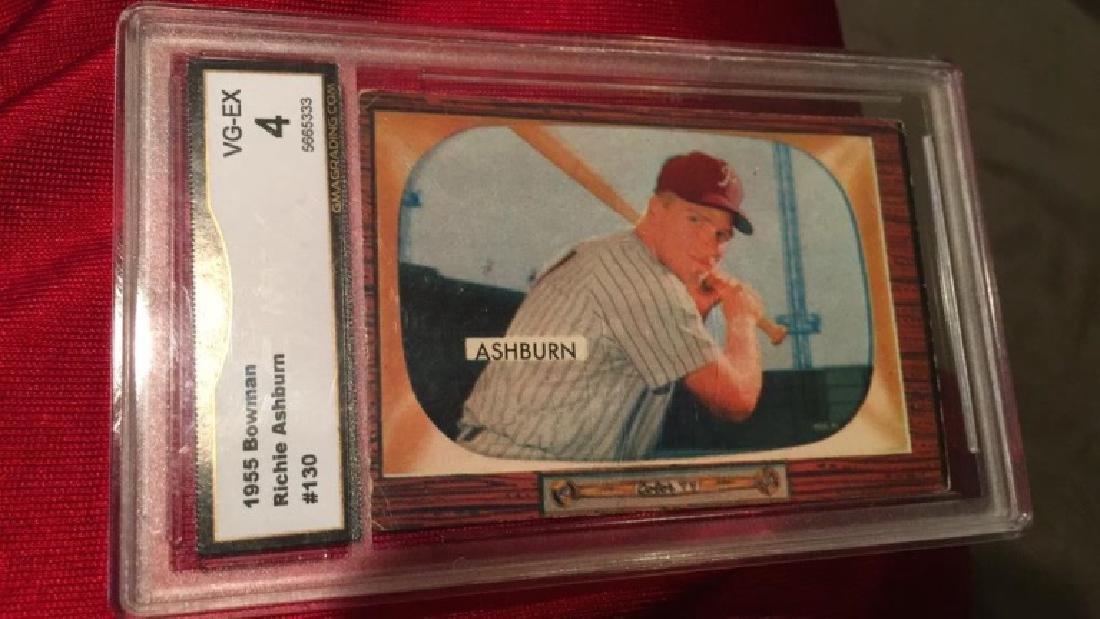 1955 Bowman Richie Ashburn graded