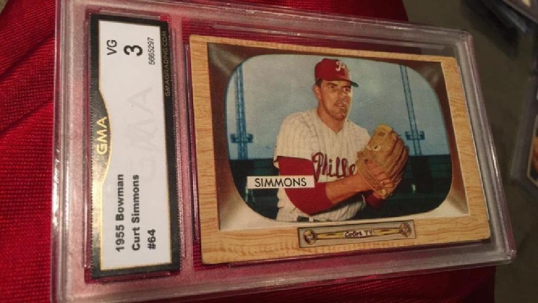 1955 Bowman Curt Simmons graded