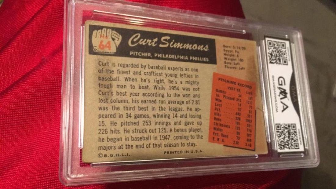 1955 Bowman Curt Simmons graded - 2