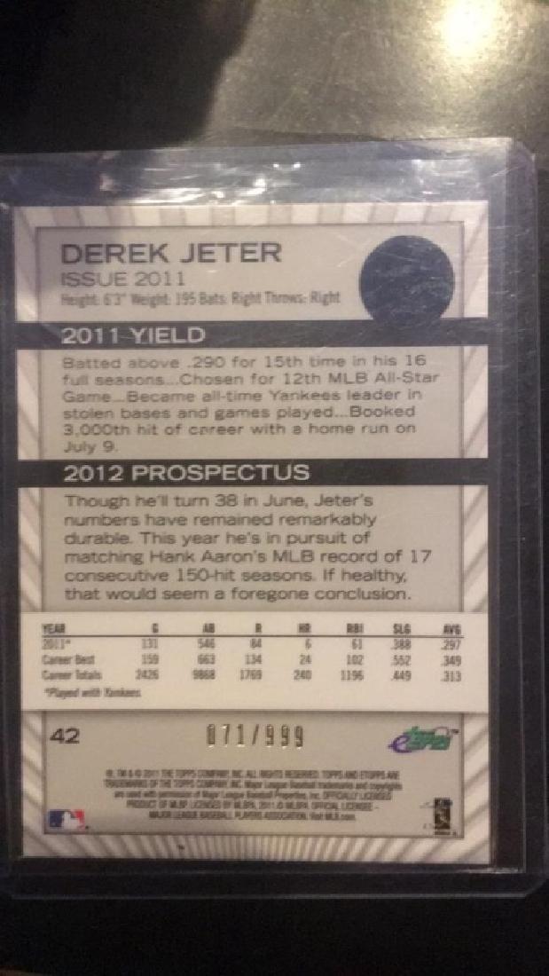 Derek Jeter 2011 Etopps /999 SP - 4