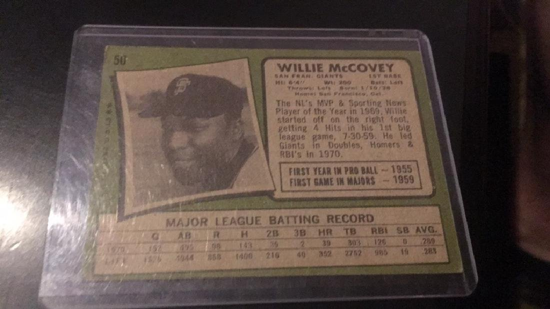 Willie McCovey 1971 Topps - 2