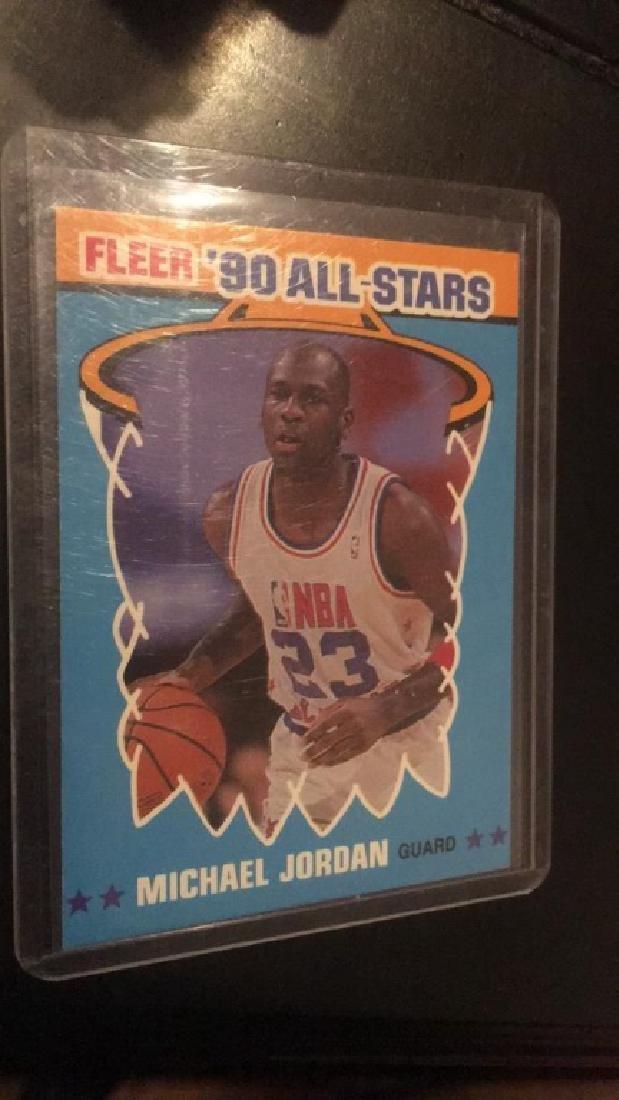 Michael Jordan 1990 fleer all star