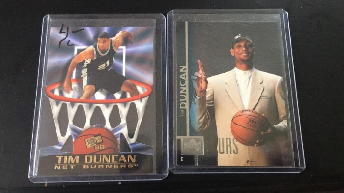 Tim Duncan 2 card RC lot