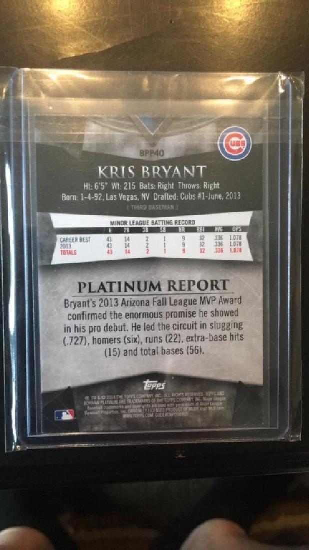 Kris Bryant 2014 Bowman Platinum RC - 2