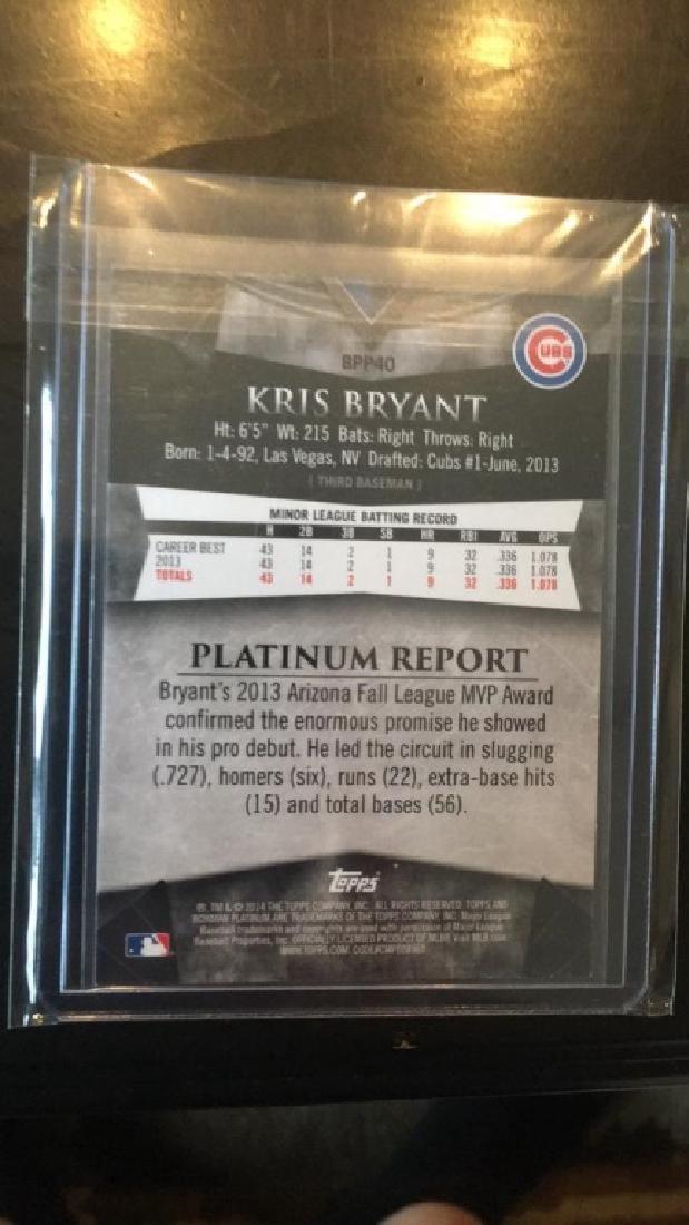 Kris Bryant 2014 Bowman Platinum RC - 3
