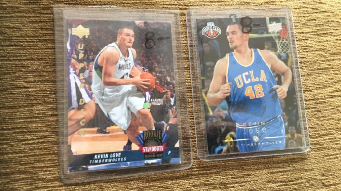 Kevin love 2 card RC lot