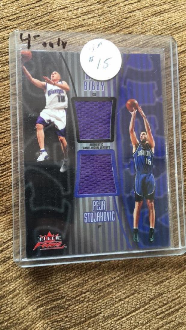 Mike bibby Peja Stojakovic dual jersey card