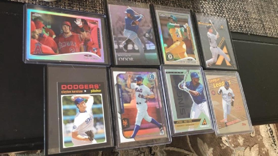 8 card baseball card lot with stars and rookies