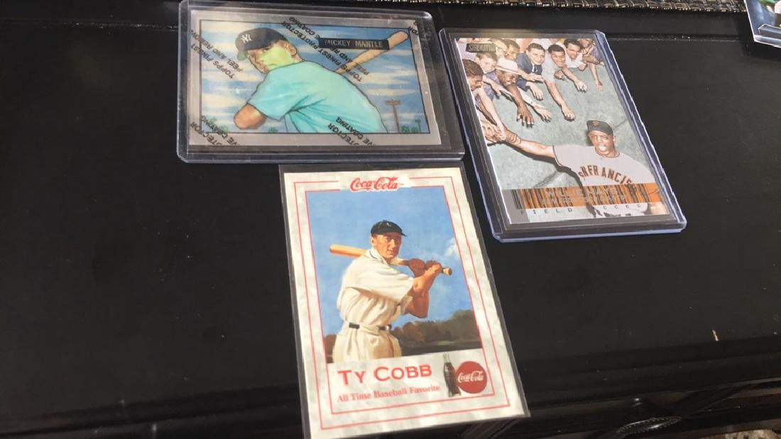 Mickey Mantle Ty Cobb and Willie Mays Lot