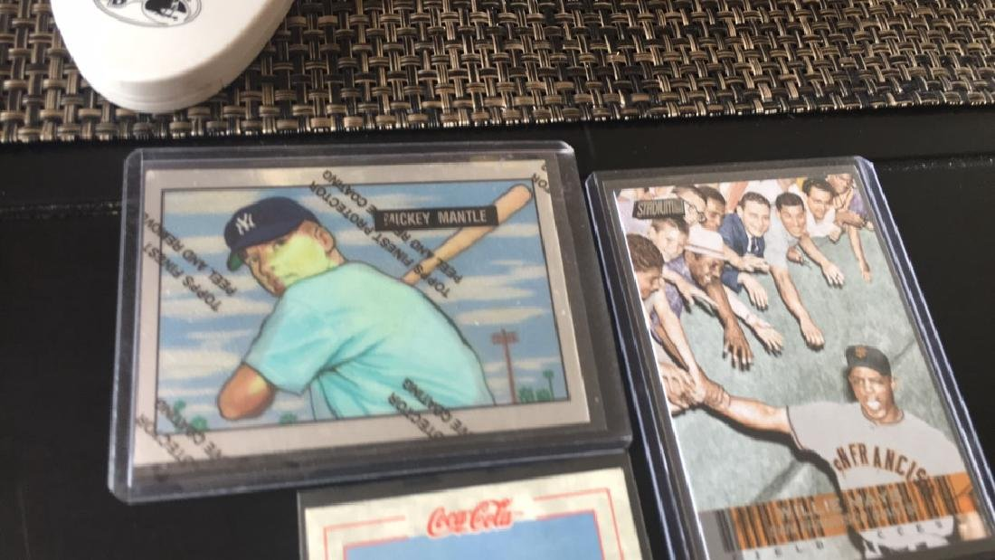 Mickey Mantle Ty Cobb and Willie Mays Lot - 2