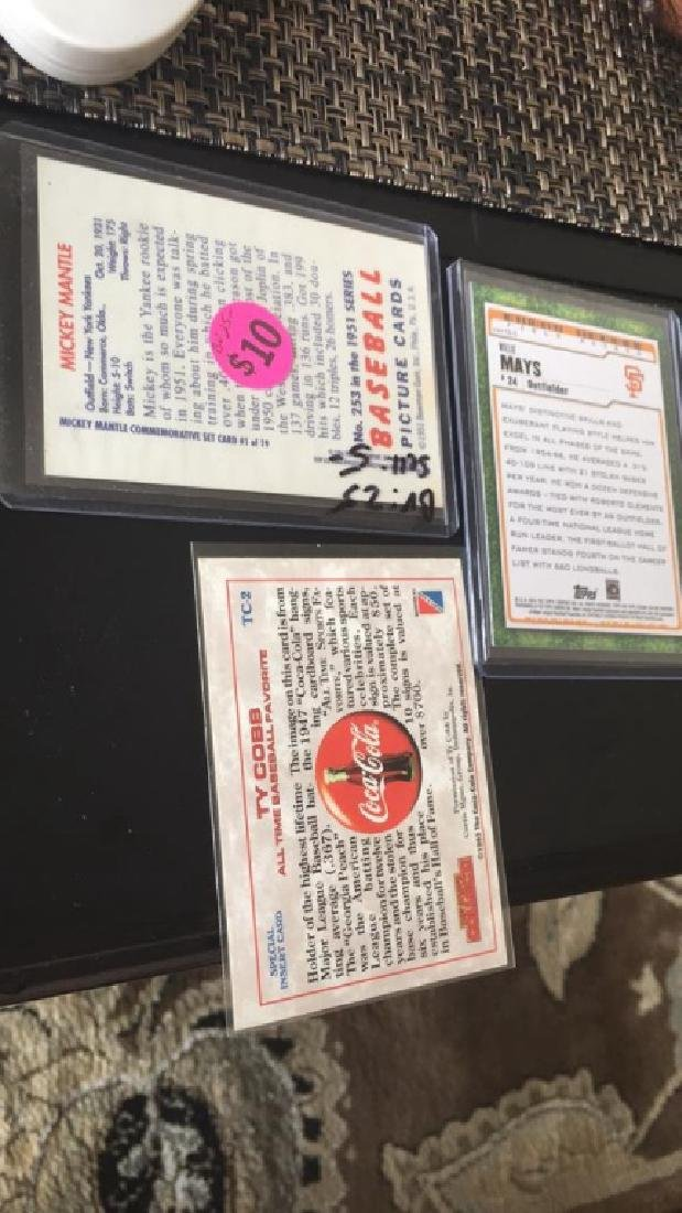 Mickey Mantle Ty Cobb and Willie Mays Lot - 3