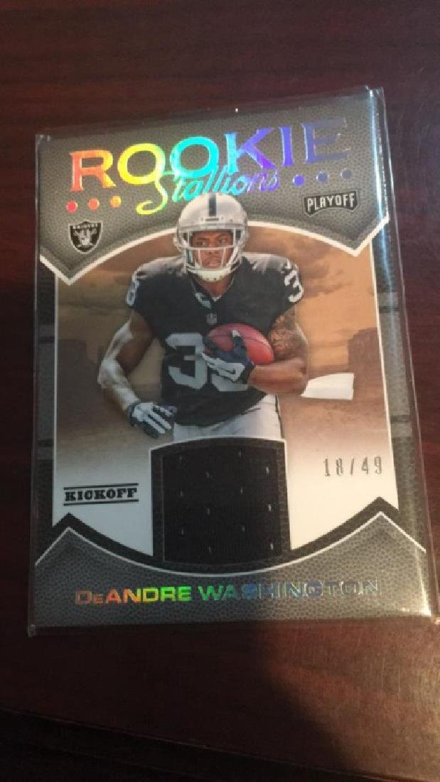 Deandre Washington 2016 playoff jersey RC