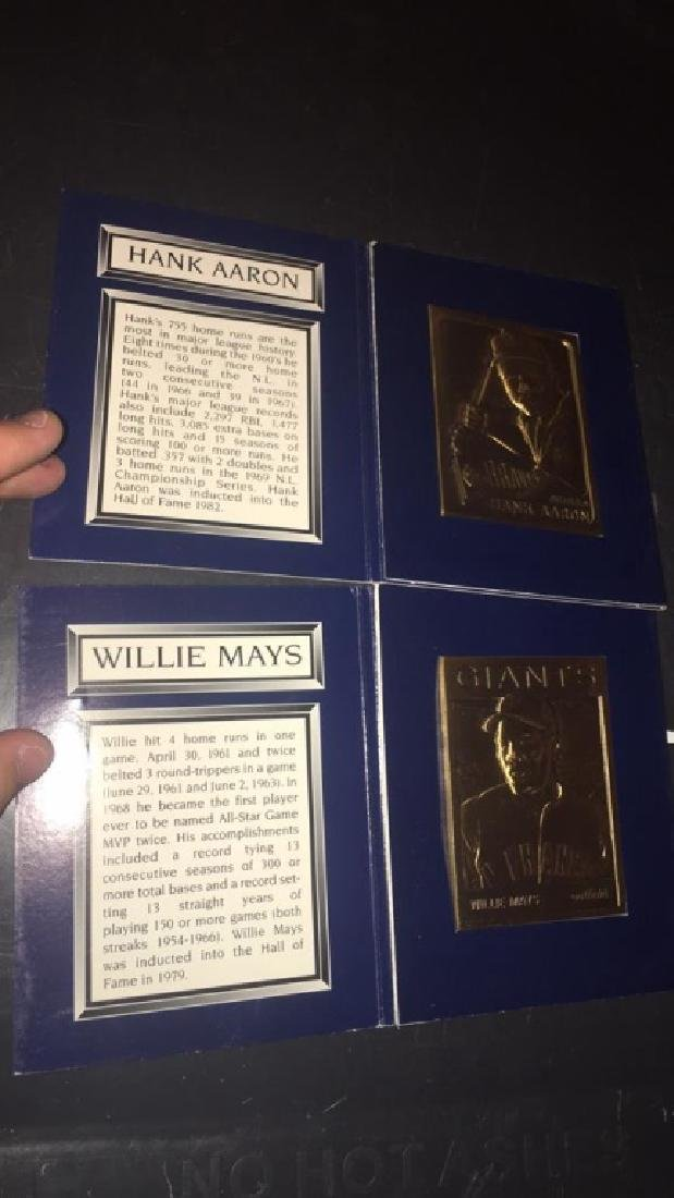 Hank Aaron and Willie Mays Topps legends of the