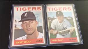 Norm Cash and Mickey Lolich 1964 Topps