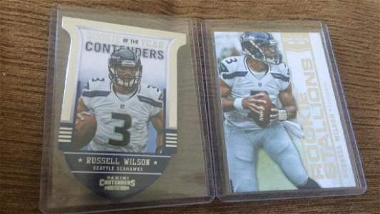 Russell Wilson 2012 contenders RC lot
