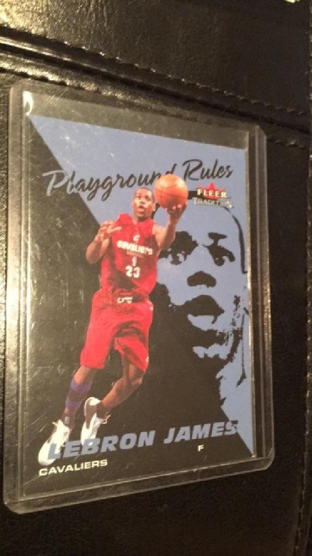 Lebron James Fleer 2003 playground rules RC