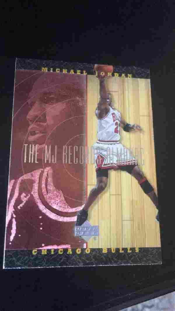 Michael Jordan upper deck The MJ record almanac