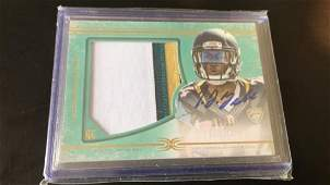 TJ Yeldon 2015 Topps Definitive 3 color patch