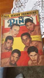 The ring vintage boxing magazine September 1952