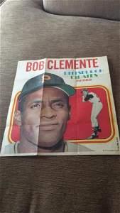 1970 tops Bob Clemente mini poster