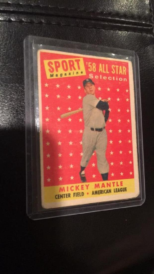 Mickey Mantle 1958 tops all star card