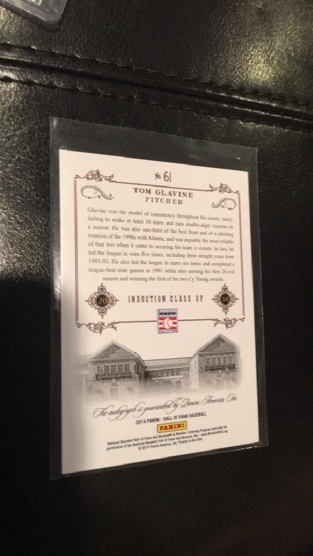 Tom Glavine 2014 Panini Hall of Fame autograph on - 2