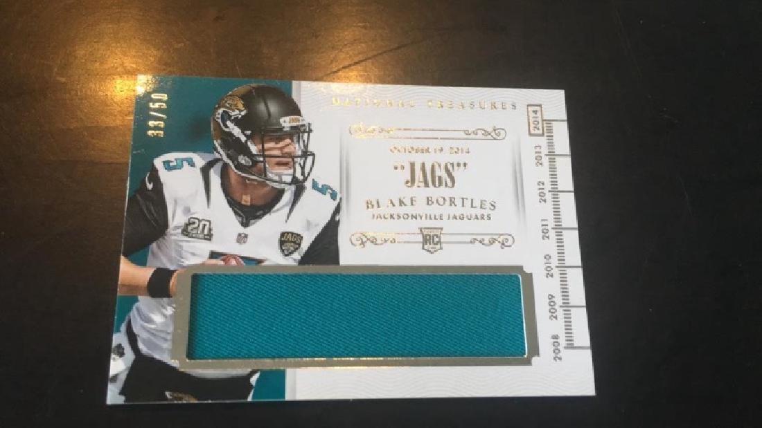 Blake Bortles 2014 national treasures rookie