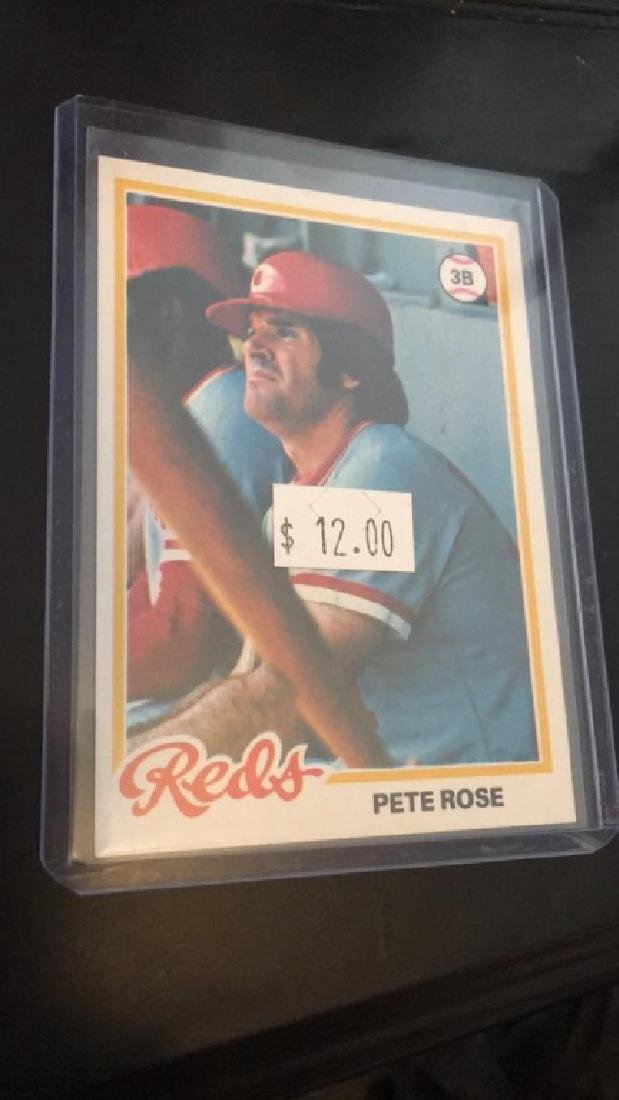 Pete rose 1978 tops in mint condition