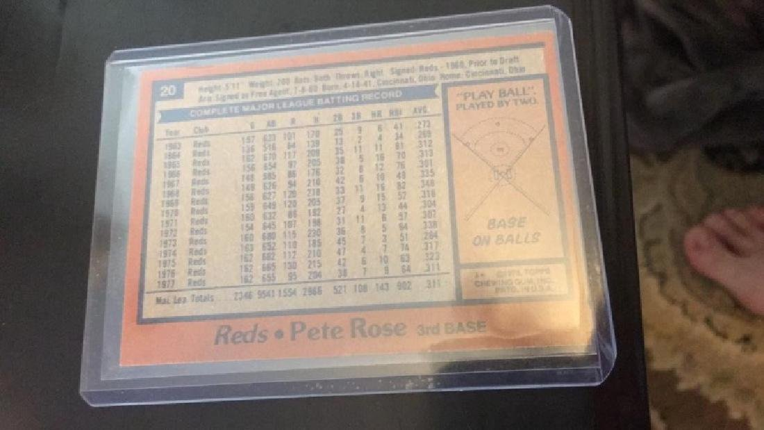 Pete rose 1978 tops in mint condition - 2
