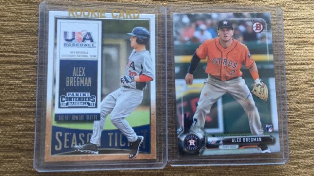 Alex Bregman 2 card RC lot