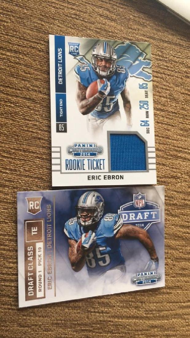 Eric Ebron Jersey rookie card and rookie card