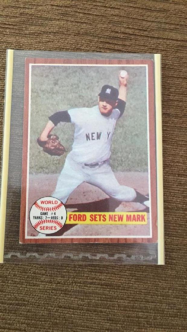 1962 Topps Whitey Ford World Series card
