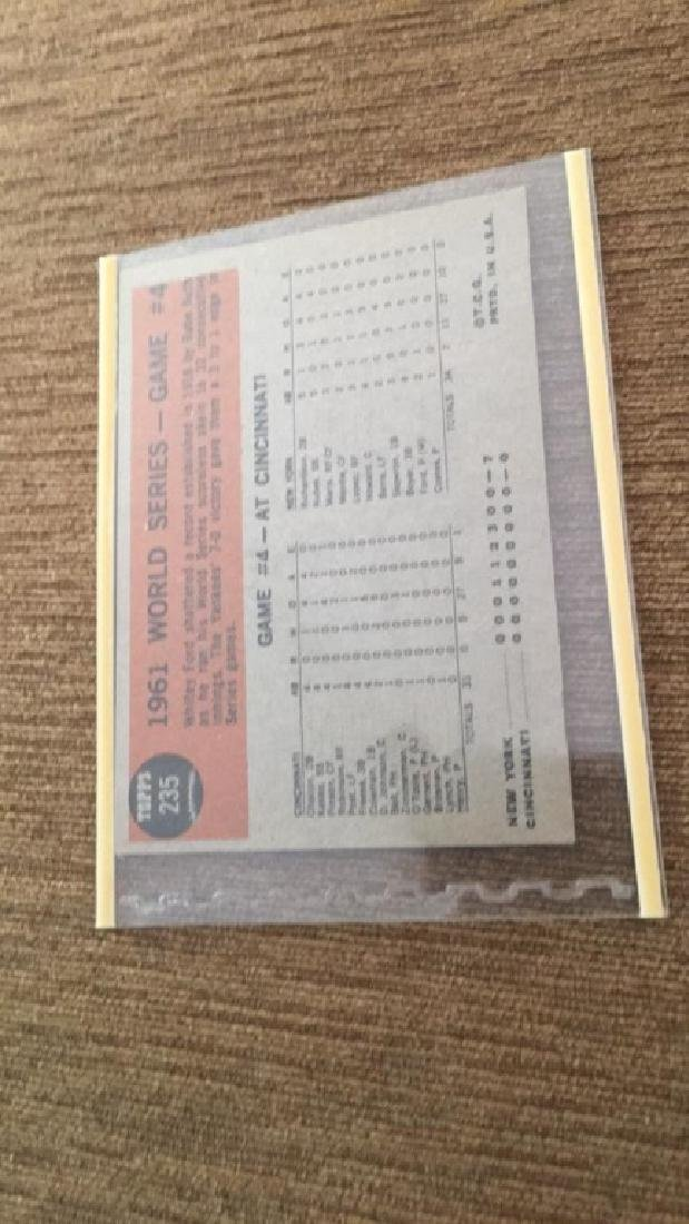 1962 Topps Whitey Ford World Series card - 2