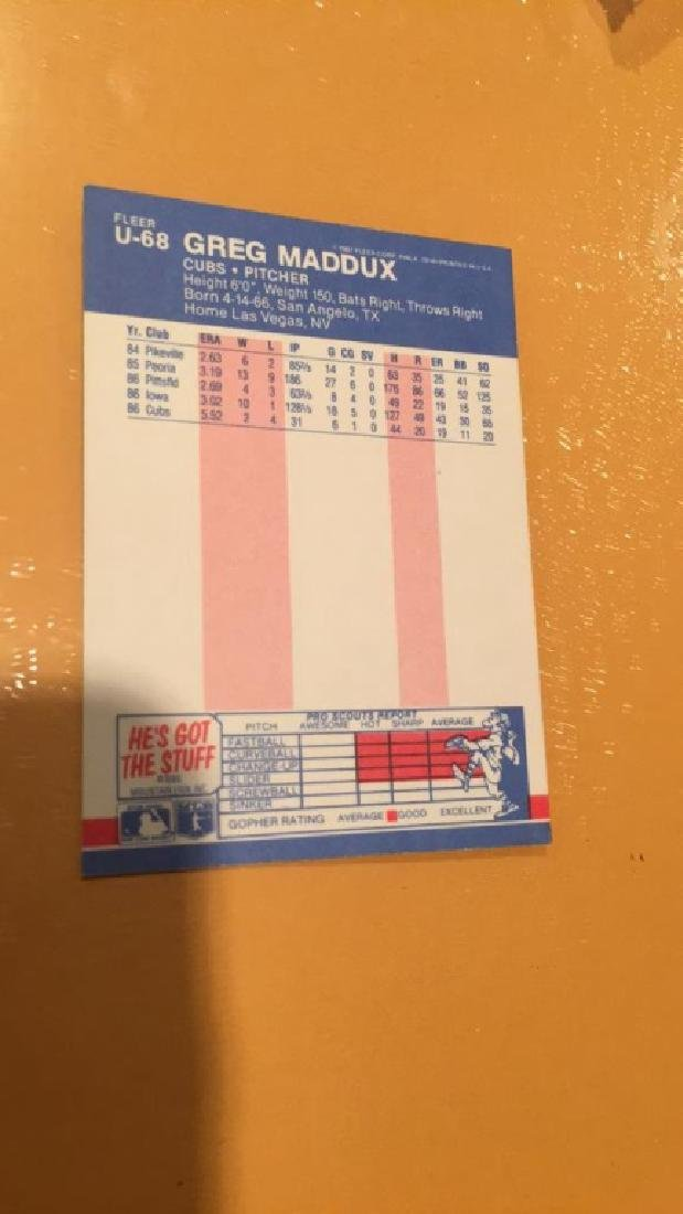 Greg Maddux 1987 Fleer update RC - 2