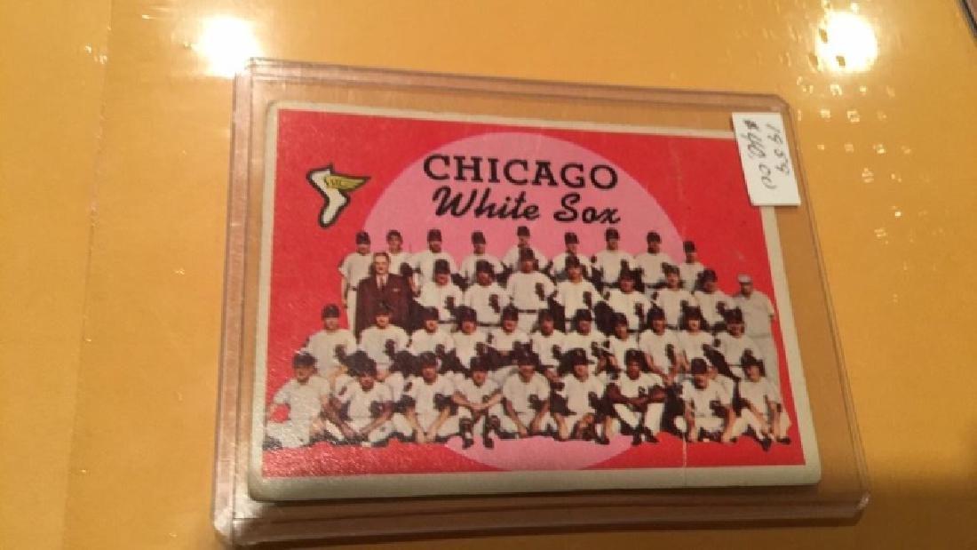 1959 top Chicago White Sox team card high book