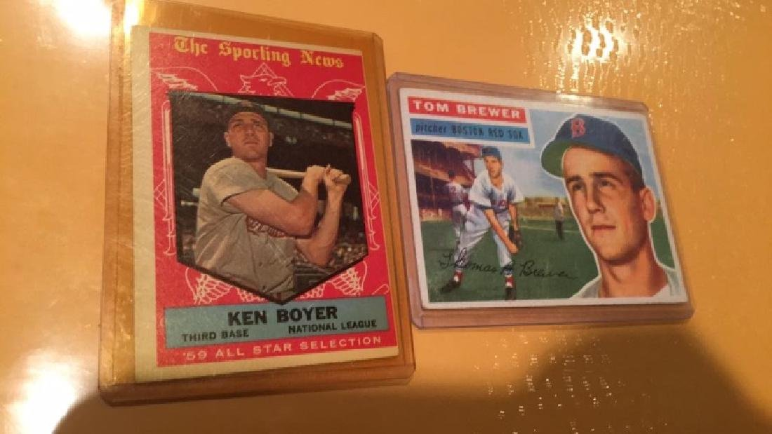 Tom Brewer and Ken boyer 1950s vintage card luck