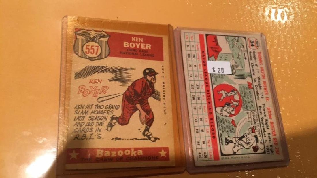 Tom Brewer and Ken boyer 1950s vintage card luck - 2