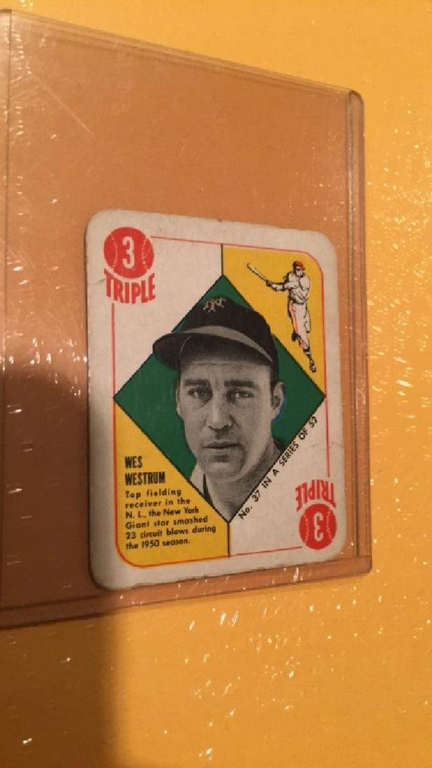 Wes Westrum 1951 Topps red back