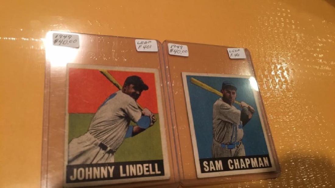 1949 Leaf Vintage Card Lot: Sam Chapman and