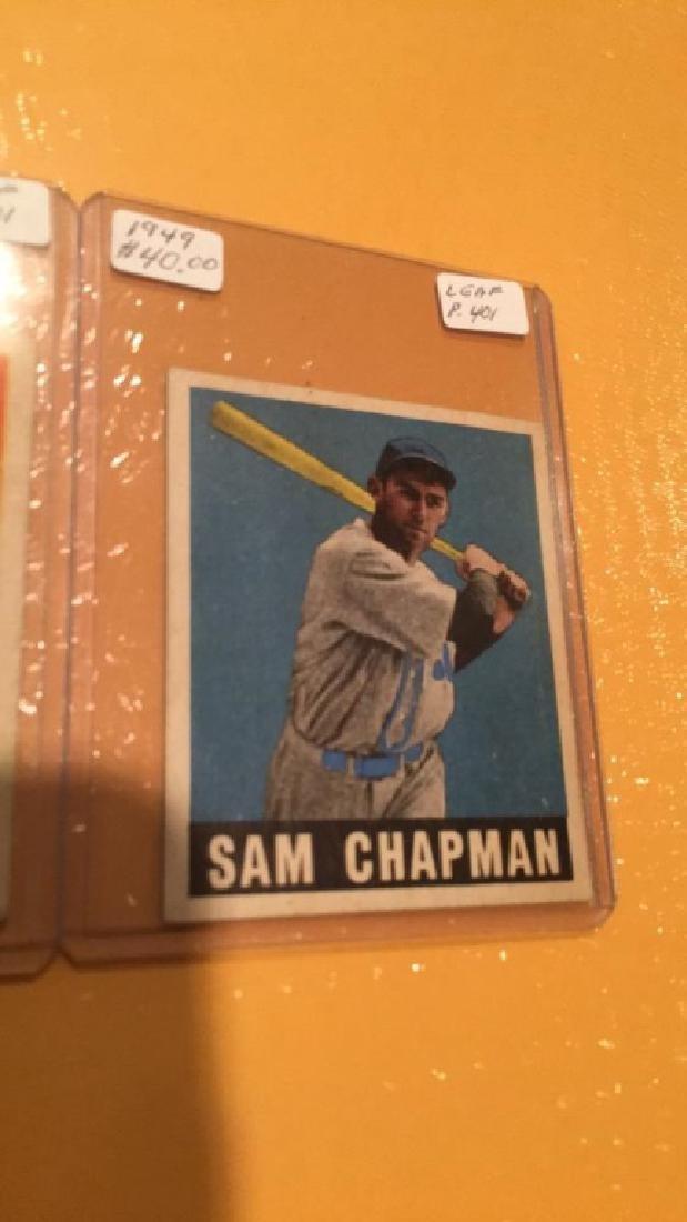 1949 Leaf Vintage Card Lot: Sam Chapman and - 2
