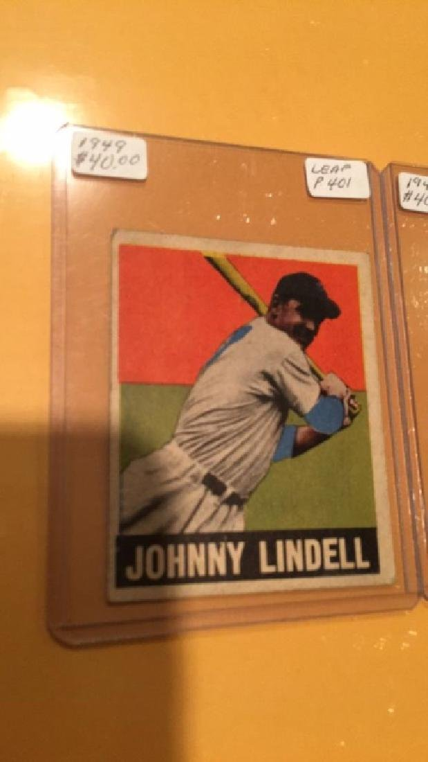 1949 Leaf Vintage Card Lot: Sam Chapman and - 3