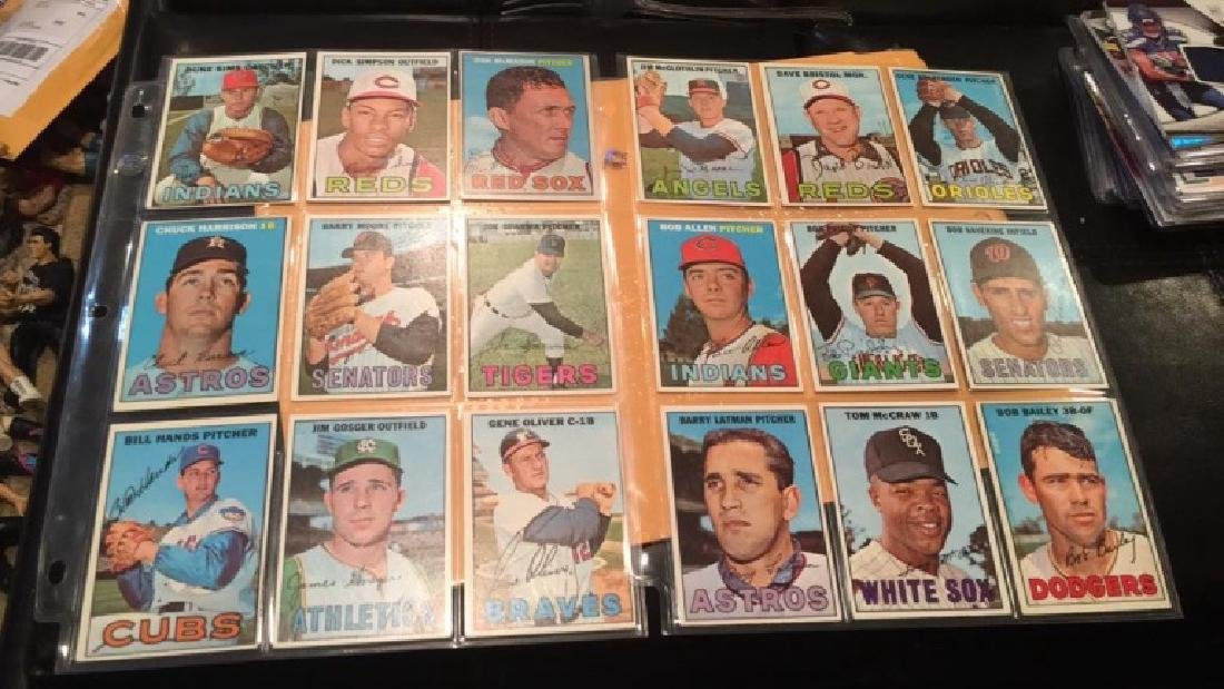 18- 1967 Topps cards in near mint or better