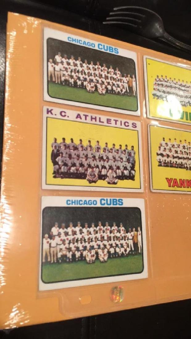 1960s 70s team card lot with two New York Yankees - 2