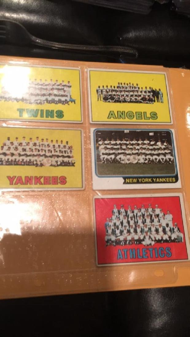 1960s 70s team card lot with two New York Yankees - 3