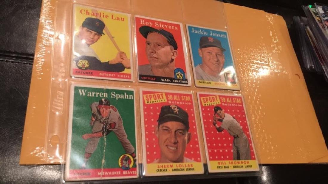 Vintage 1958 and 1959 tops card lot