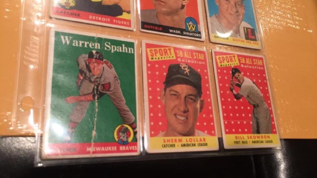 Vintage 1958 and 1959 tops card lot - 2